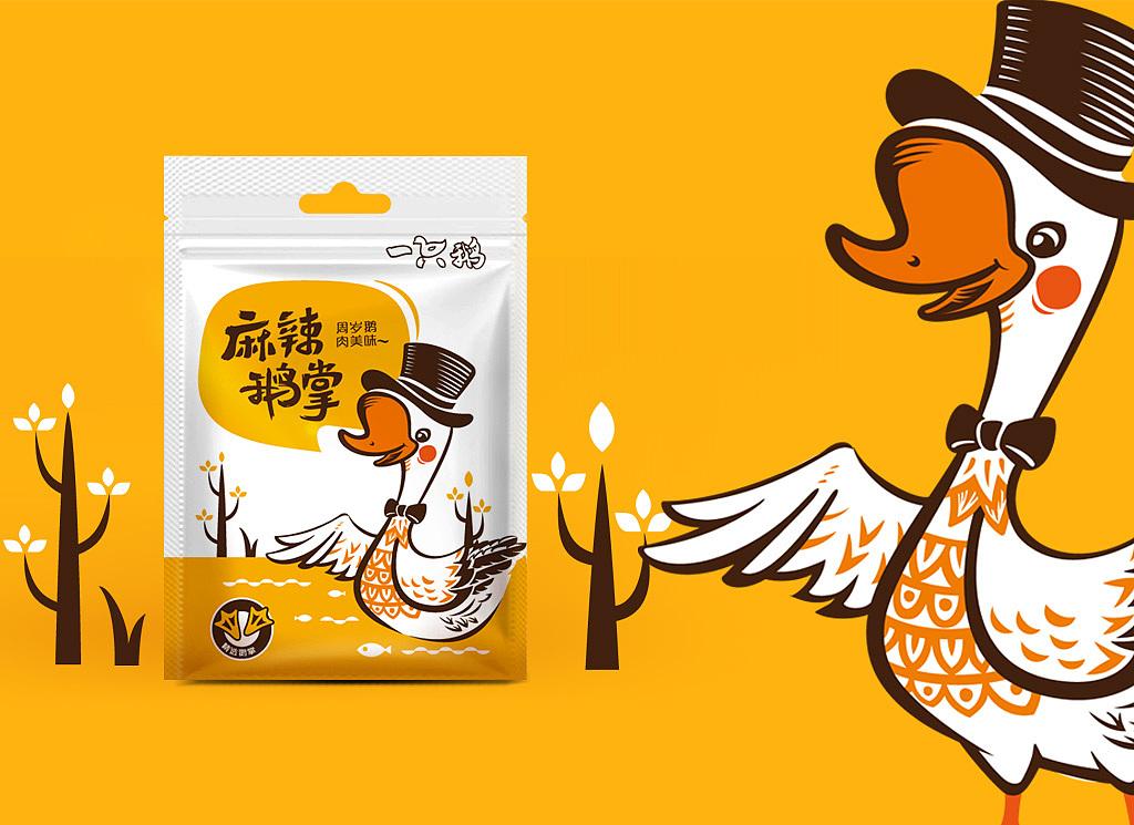 休闲食品包装设计鸭肉零食包装设计